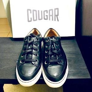 Cougar Black Leather Sneakers 7